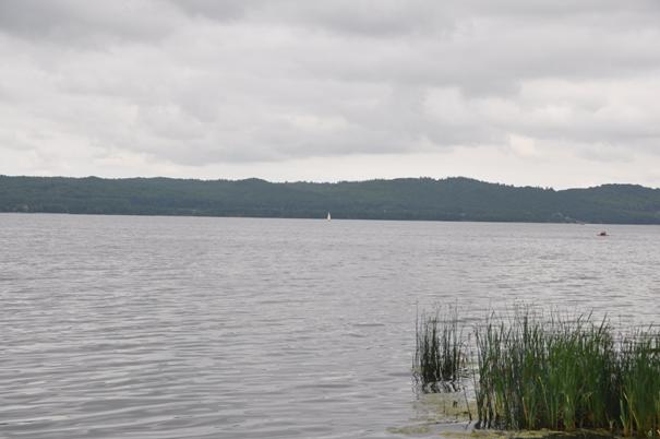 Rys. Jezioro Żarnowieckie, wskazane potencjalnie na lokalizację EJ.